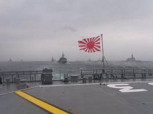 自衛艦旗と艦隊