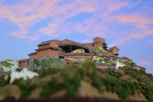 お城のジオラマ-苗木城 その二