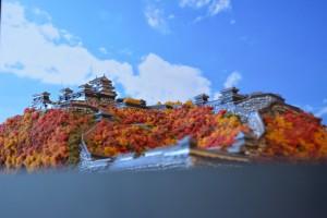 お城のジオラマ-松山城