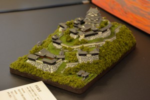 お城のジオラマ-宇和島城