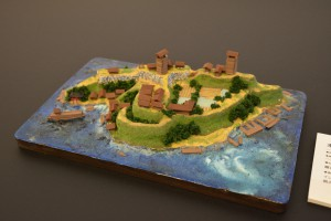 お城のジオラマ-来島城