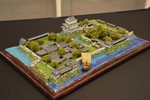 お城のジオラマ-高松城