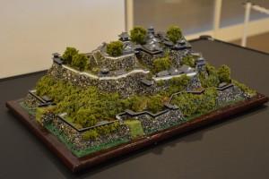 お城のジオラマ-高知城