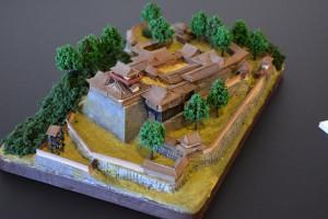 お城のジオラマ-飛騨高山城