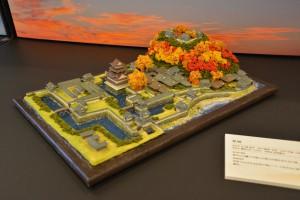 お城のジオラマ-萩城