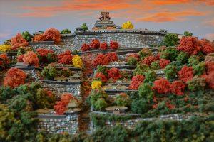 お城のジオラマ-安土城 その一