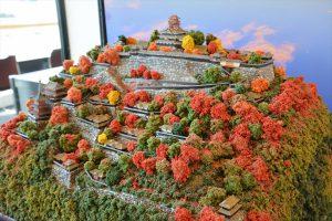 お城のジオラマ-安土城 その二