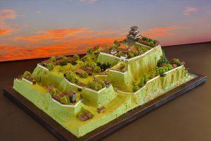 お城のジオラマ-箕輪城
