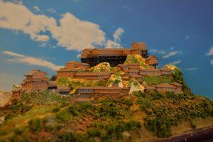 お城のジオラマ-苗木城 その一