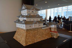 お城のジオラマ-高松城天守