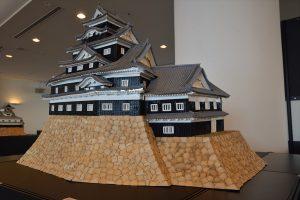 お城のジオラマ-岡山城天守