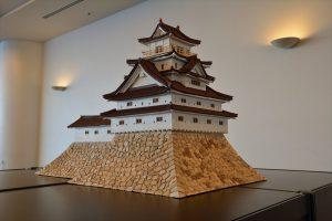 お城のジオラマ-萩城天守