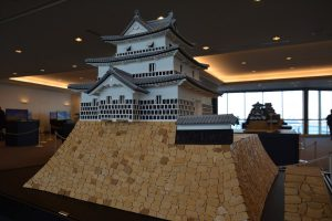 お城のジオラマ-新発田城三階櫓